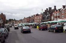 Marlborough, main street and market, Wiltshire © Ron Strutt